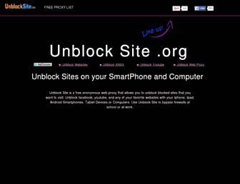 unblocksite.org screenshot