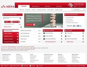 Main page screenshot of absa.co.za