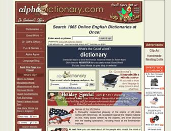 Thumbshot of Alphadictionary.com
