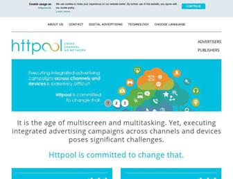 Main page screenshot of httpool.hk