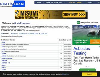 gratisexam.com screenshot