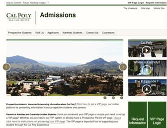 admissions.calpoly.edu screenshot