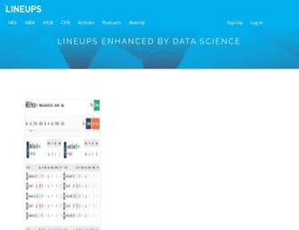 lineups.com screenshot