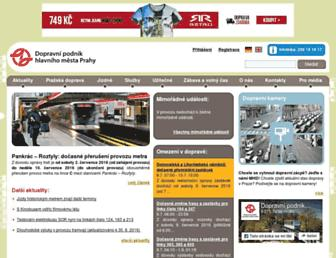 Main page screenshot of dpp.cz