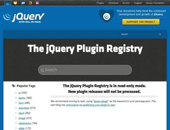 plugins.jquery.com screenshot
