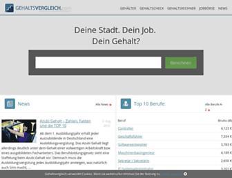 gehaltsvergleich.com screenshot
