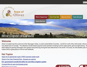 Main page screenshot of oliver.ca