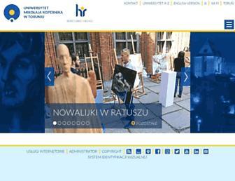 Main page screenshot of umk.pl
