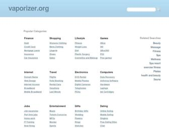 Main page screenshot of vaporizer.org