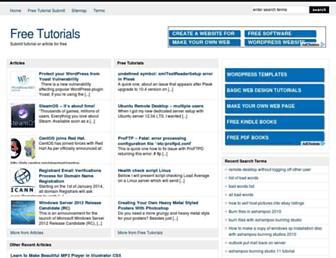 freetutorialssubmit.com screenshot
