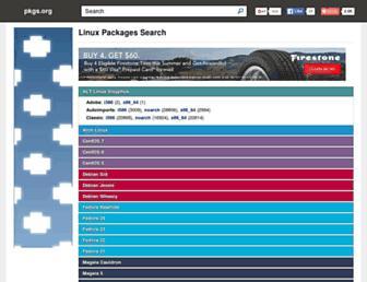pkgs.org screenshot