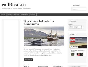 Main page screenshot of codrosu.ro
