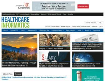 healthcare-informatics.com screenshot