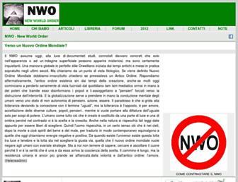 Main page screenshot of nwo.it