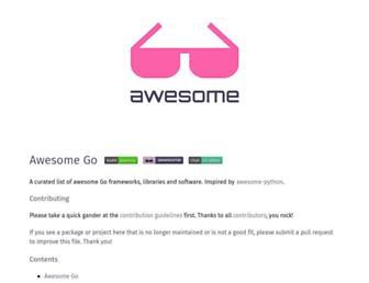 awesome-go.com screenshot
