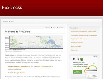 foxclocks.org screenshot