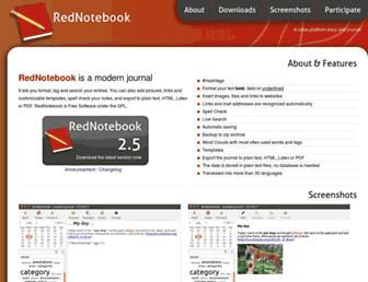 rednotebook.sourceforge.io screenshot