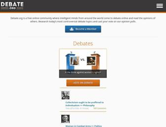 debate.org screenshot