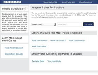 scrablagram.com screenshot