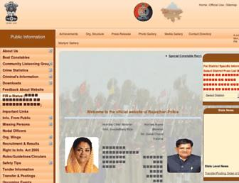 police.rajasthan.gov.in screenshot