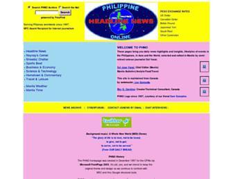 Main page screenshot of newsflash.org