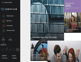 Main page screenshot of gemius.lv