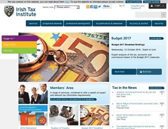 Main page screenshot of taxinstitute.ie