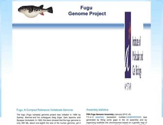 Main page screenshot of fugu-sg.org