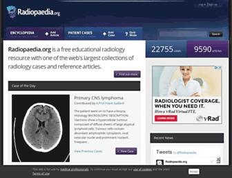 Screenshot for radiopaedia.org