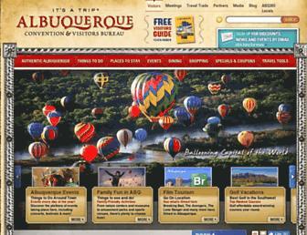 visitalbuquerque.org screenshot