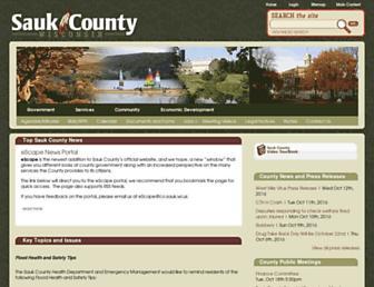 co.sauk.wi.us screenshot