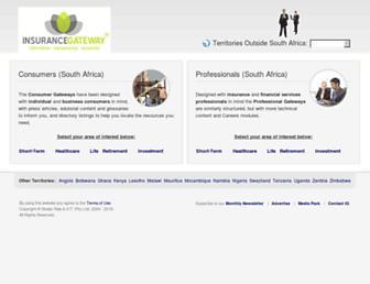 insurancegateway.co.za screenshot