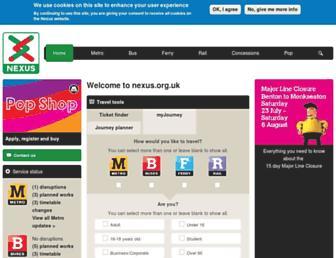 nexus.org.uk screenshot