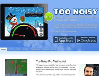 toonoisyapp.com screenshot