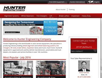 hunter.com screenshot