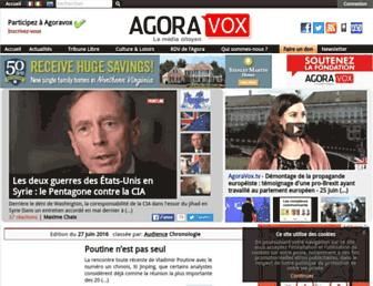 Main page screenshot of agoravox.fr