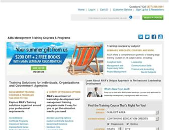 Main page screenshot of amanet.org