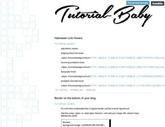 tutorial-baby.tumblr.com screenshot