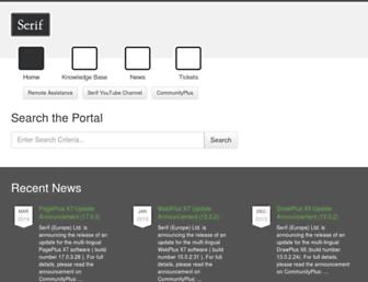 support.serif.com screenshot