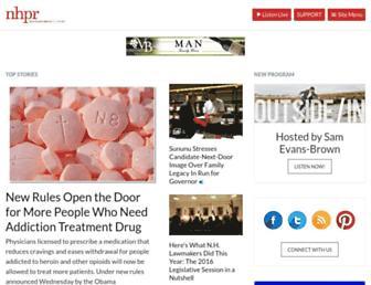 Main page screenshot of nhpr.org