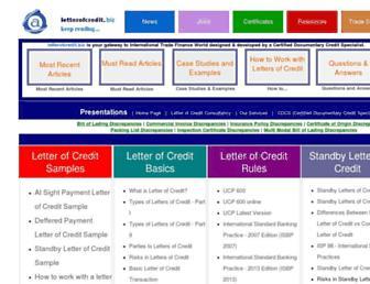 letterofcredit.biz screenshot
