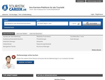 Main page screenshot of touristikcareer.de