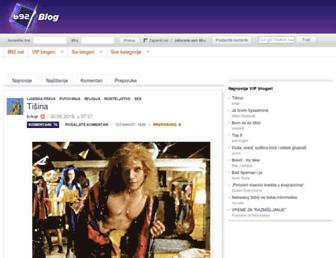 Main page screenshot of blog.b92.net
