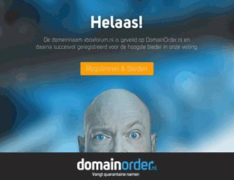 Main page screenshot of xboxforum.nl