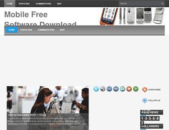 mobilefreesoftwareworld.blogspot.com screenshot