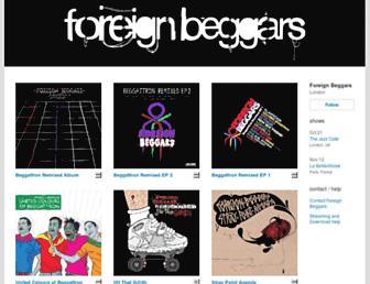 foreignbeggars.bandcamp.com screenshot