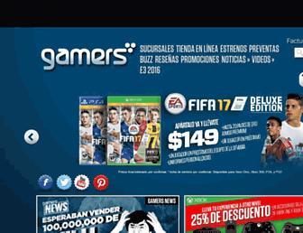 Main page screenshot of gamers.vg