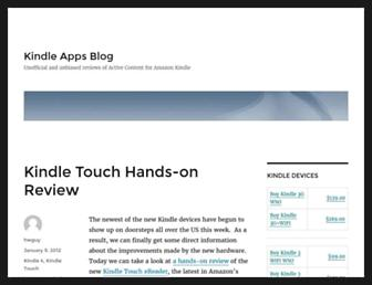 Main page screenshot of kindle-apps.net