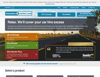 insurance4carhire.com screenshot