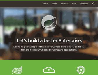 Main page screenshot of springsource.org